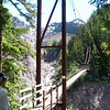 Suspension bridge above Tahoma Creek