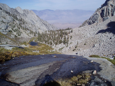 Lower Boy Scout Lake and Inyo Mountains in the background