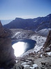Iceberg Lake from the pass. Lone Pine Peak in the background