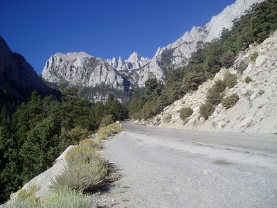 Thor Peak, Needles and Mount Whitney from Whitney Portal Road