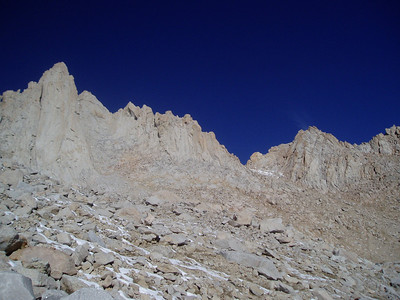 Climbing towards the pass between Mt. Whitney and Mt. Russell