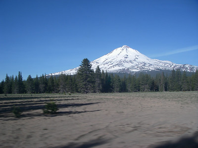 Approaching Mt. Shasta from east side another day