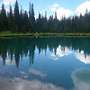 The Blue Lakes trail is popular and easy to follow to the lower lake (gorgeous!)