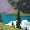 Fascinate color...<br /> The trail is thinner as it climbs to the higher lakes and Blue Lakes pass