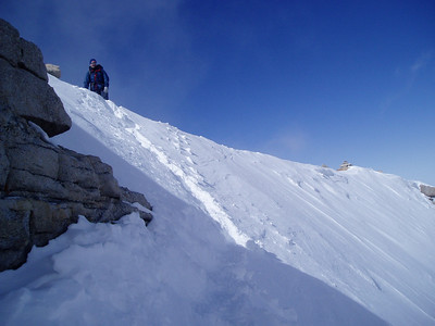 Mark P. on the summit ridge. We met here - establish nice friendship - and summited Mt Rainier together later on in July