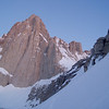 Mt Whitney early in the morning - April 22.