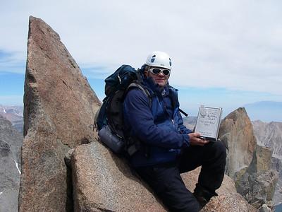 First 14-er on Palisade Range Traverse is our. Thunderbolt Peak (4.268 m = 14,003 ft)