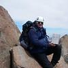 First 14-er on Palisade Range Traverse is our.<br /> Thunderbolt Peak (4.268 m = 14,003 ft)