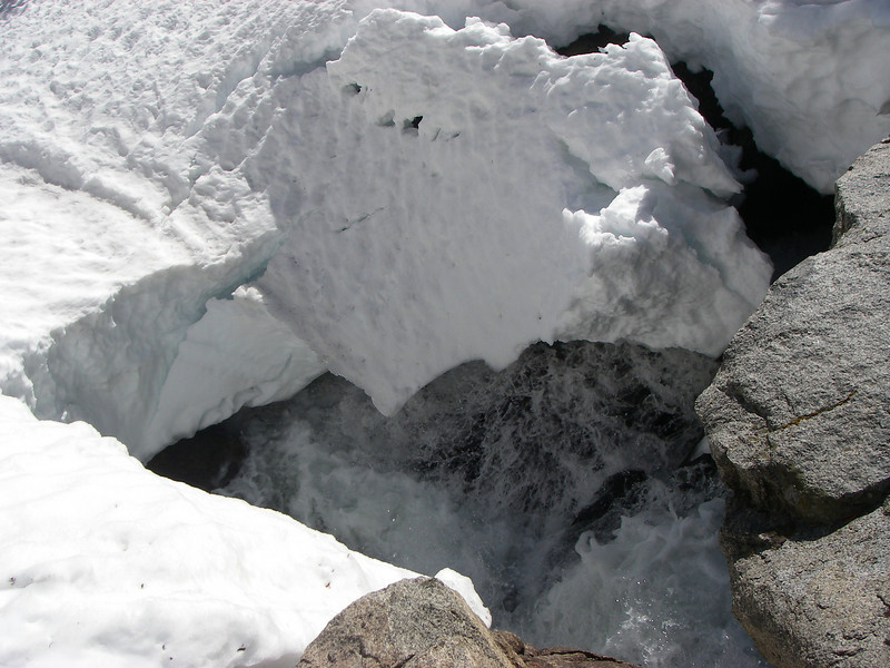 Heavy snow is melting - it was May 12.