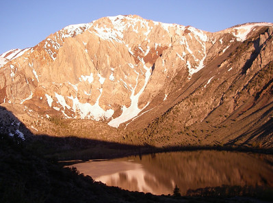Convict Lake and Mount Morisson (12,268ft = 3.739m) May 13. early in the morning