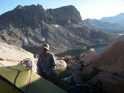 Camp just below Thunderbolt Pass in Dusy Basin
