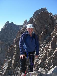 Approaching Polemonium Peak (14,080 ft = 4.292 m) at 3:30pm.