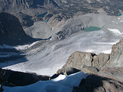 ... and Palisade Glacier towards east.