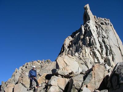 Climbing down from Thunderbolt Peak (14, 003 ft = 4.268 m)