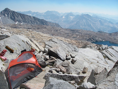 The second night we spent at Thunderbolt Pass (12,480 ft = 3.804 m)...