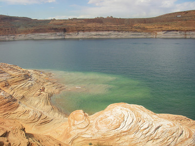 Lake Powell  Capacity: 24,320,000 acre•ft (30.00 km3)  Catchment area (Drainage basin): 108,335 sq mi (280,590 km2)