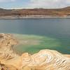 Lake Powell <br /> Capacity: 24,320,000 acre•ft (30.00 km3) <br /> Catchment area (Drainage basin): 108,335 sq mi (280,590 km2)