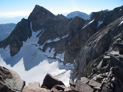 The views from the summit are incredible - towards Palisade Glacier to the East.