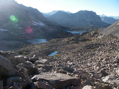 Hike towards Bishop Pass about 12,000ft = 3,658m