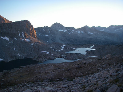 Sunset above Dusy Basin