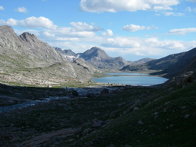 ... and a view back towards Titcomb lakes. If you have good eyes, you can see our tents.