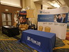 Exhibitor booths during Friday sessions