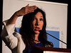Nomi Prins speaks during Keynote lecture