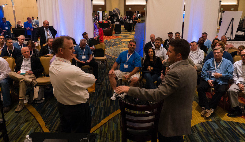 """Attendees and speakers during """"Fireside Chats: Intersection of Consumer Law and Bankruptcy Mortgage"""" at Friday sessions"""