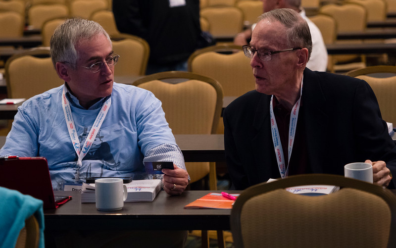 Attendees and speakers during Friday sessions