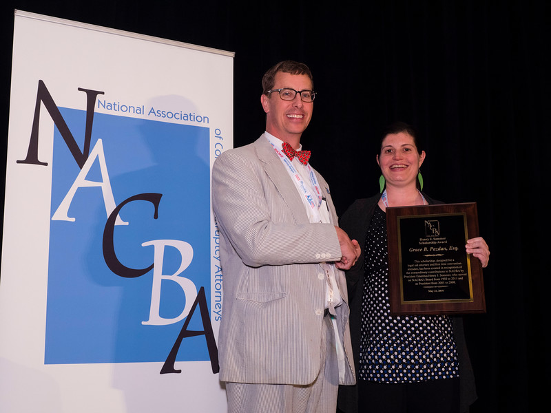 Edward C. Boltz, NACBA President presents awards during Keynote lecture and lunch