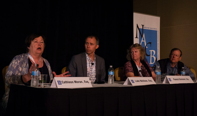 """Attendees and speakers during """"Mortgage Accounting and Escrow Issues"""" at Friday sessions"""