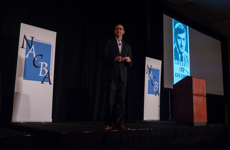 Adam Carroll gives the opening keynote address during Friday opening session