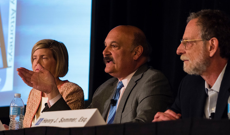 """Speakers and attendees during """"Case Law Update"""" at Saturday sessions"""