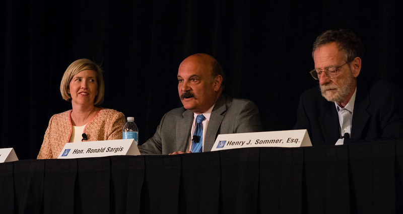 "Speakers and attendees during ""Case Law Update"" at Saturday sessions"