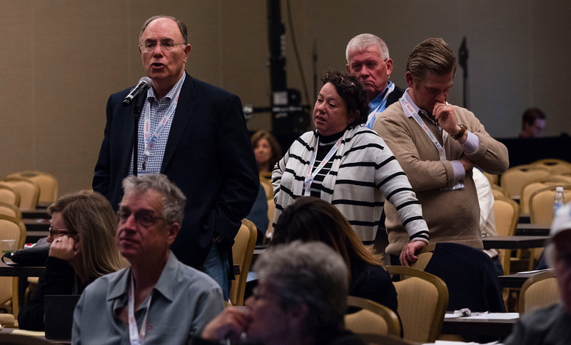 """Speakers and attendees during """"Chapter 7 Asset Cases"""" at Saturday sessions"""