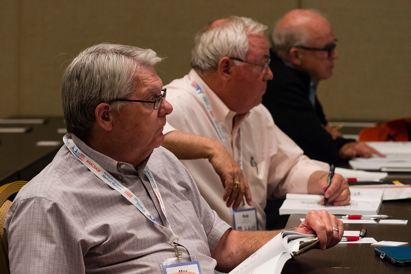 """Speakers and attendees during """"Introduction to Tax and Bankruptcy"""" at Saturday sessions"""