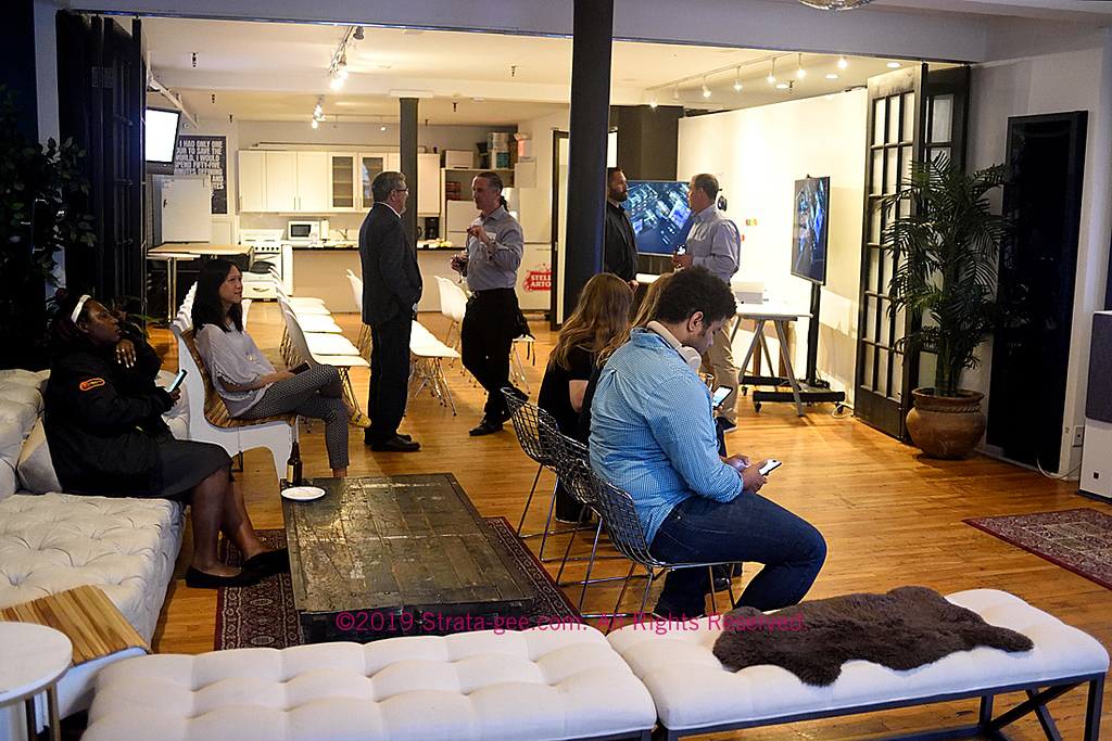 photo of the Soho studio where the Lenbrook press party was held to introduce the NAD M10 streaming amplifier