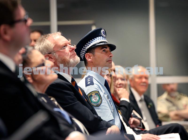 NAJEX ANZAC Day Ceremony at The SJM. Police Inspector Danny Davie. Pic Noel Kessel.