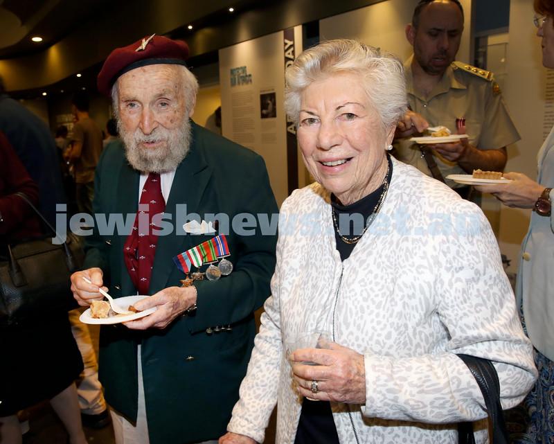 NAJEX ANZAC Day Ceremony at The SJM. Mark Braham & Zara Selby. Pic Noel Kessel.