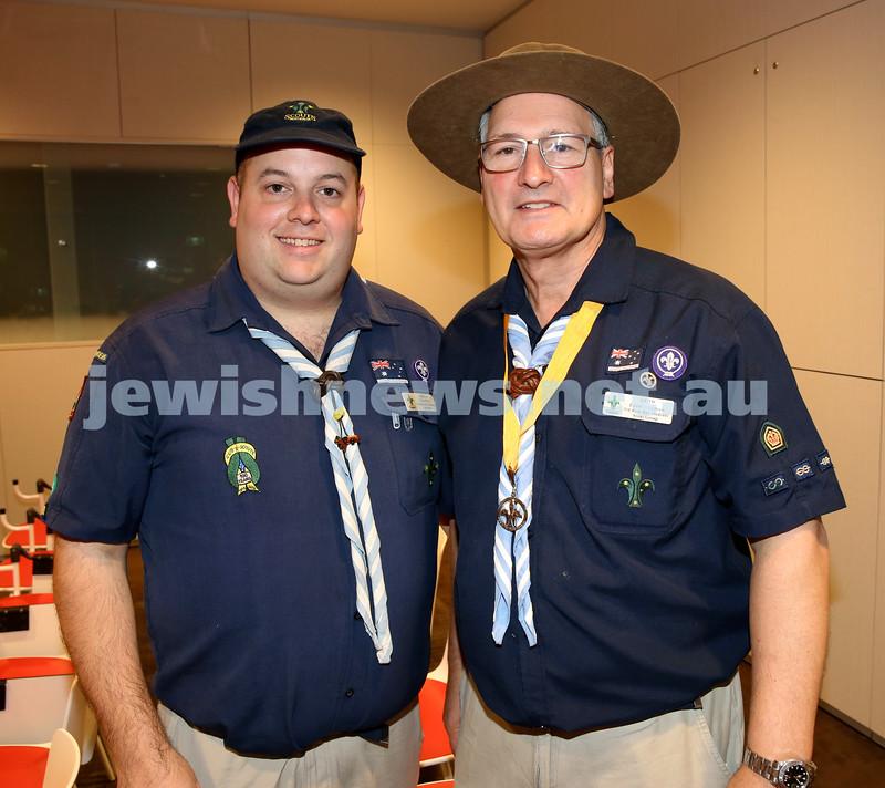 NAJEX ANZAC Day Service at SJM. Nic Wolf (left) & Leon Waxman. Pic Noel Kessel.