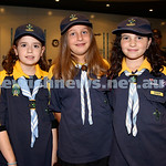 NAJEX ANZAC Day Ceremony at The SJM. (from left) Liorah Kessel, Emily Scharrmacher, Orli Jacoby. Pic Noel Kessel.