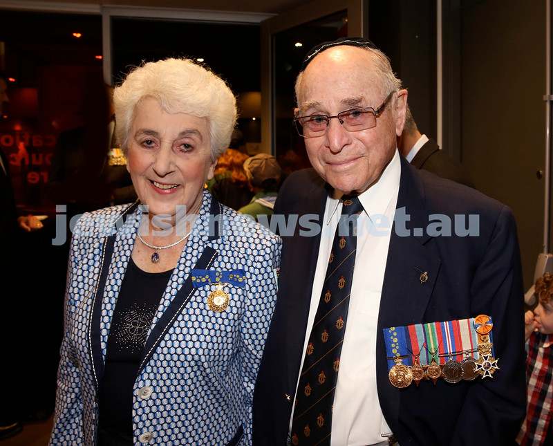 NAJEX ANZAC Day Service at SJM. Sari & Wesley Browne. Pic Noel Kessel.