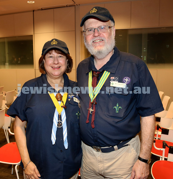NAJEX ANZAC Day Ceremony at The SJM. Shirley & Ben Politzer. Pic Noel Kessel.