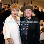 NAJEX ANZAC Day Ceremony at The SJM. Debbie Sleigh (left) & Lorraine Harvey. Pic Noel Kessel.