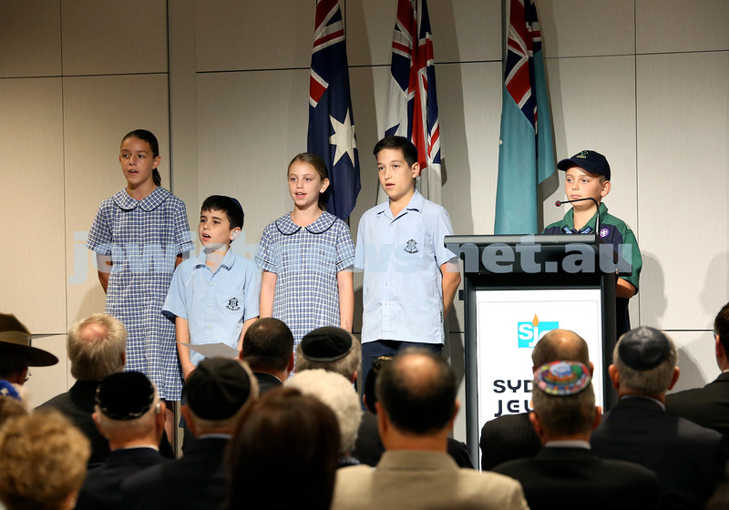 NAJEX ANZAC Day Ceremony at The SJM. Pic Noel Kessel.