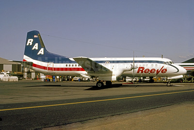 Reeve Aleutian Airways-RAA NAMC YS-11A-621 N169RV (msn 2169) ANC (Bruce Drum Collection). Image: 950833.