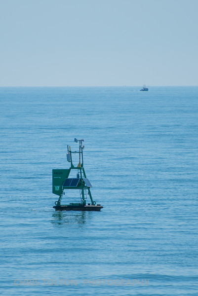 Weather Buoy and Fishing Boat