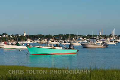 Nantucket Harbor and Boats at Sunrise
