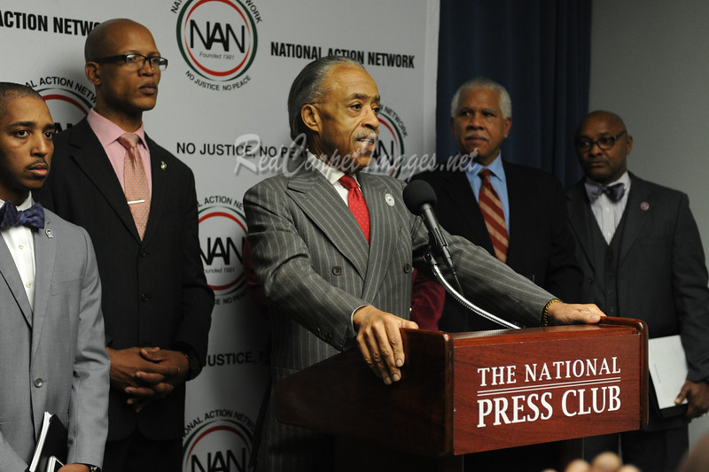 WASHINGTON, DC - DECEMBER 5: National Action Network's We Shall Not Be Moved Press Conference at the National Press Club on Monday, December 5, 2016, in Washington, DC, USA. (Photo by Aaron J.)