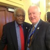 Congressman Danny Davis (left) and IAR President Mike Drews